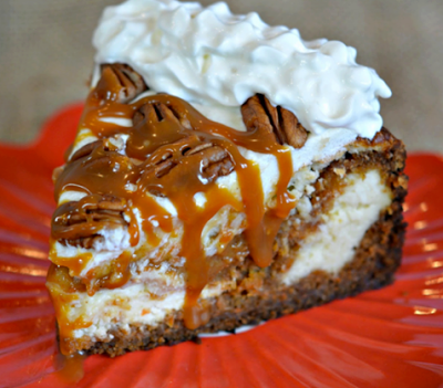 Carrot Cake Cheesecake With Salted Caramel And Whipped