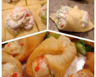 Crab & cream cheese snacks