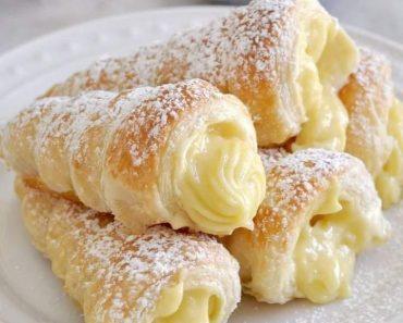 Italian Cream Stuffed Cannoncini Recipe